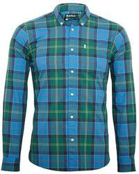Barbour Naar Tailored Fit Overhemd Msh4432bl33 - Blauw