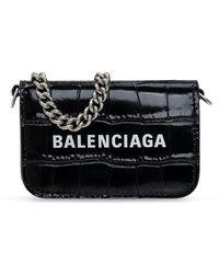 Balenciaga Wallet With Chain - Zwart