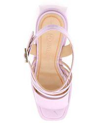 NODALETO Bulla chibi sandals Morado - Rosa