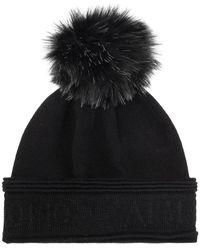 Emporio Armani Pom-pom Hat - Zwart