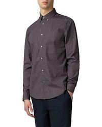 Ben Sherman Long Sleeve Foulard Print Shirt - Bruin