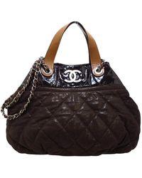 Chanel Vintage Tweedehands In De Mix - Bruin