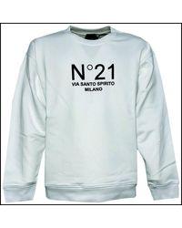 N°21 - Felpa Girocollo Stampa Sweatshirt - Lyst