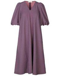 Stine Goya Mavelin Grid Dress - Paars