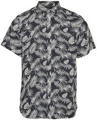 Knowledge Cotton Apparel Short Sleeve Shirt - Blauw