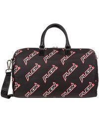 Philipp Plein Travel Duffle Weekend Shoulder Bag Nylon Space Plein - Zwart