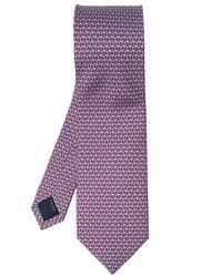 Ferragamo Patterned Tie - Paars