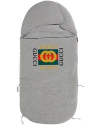 Gucci Sleep Tas With Logo Print On Front - Grijs