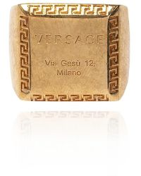 Versace Ring With Logo - Geel