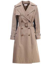 Alexander McQueen Coat 666921qfaaa - Naturel