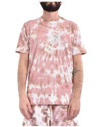 Paura T-shirt marek effetto tie dye - Rosa