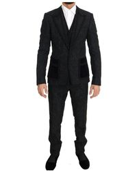 Dolce & Gabbana Torrero slim 3 piece one button suit - Noir