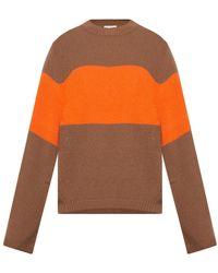 Moncler Wool sweater with logo - Neutro