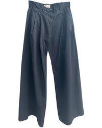 Nili Lotan Pre-owned Wide Legged Pants - Noir