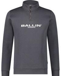 Ballin Amsterdam Half Rits Sweater - Grijs