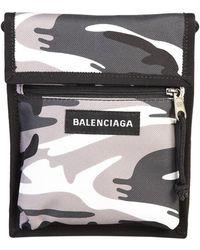 Balenciaga Camouflage Print Tas - Grijs