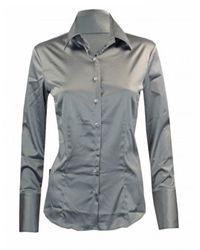 Robert Friedman Shiny blouse - Grau