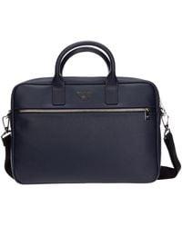Emporio Armani Briefcase Attaché Case Laptop Pc Tas - Blauw