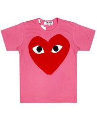 COMME DES GARÇONS PLAY - Heart Print T-shirt - Lyst