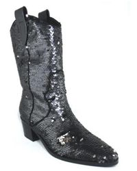 Bibi Lou - Texan Pailettes Heel Negro - Lyst