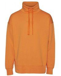 Knowledge Cotton Apparel Fleece High Neckweat 1277 - Oranje