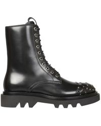 Givenchy Combat Boots With Studs - Zwart