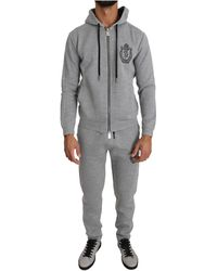 Billionaire Italian Couture Sport Sweater Pants Tracksuit - Grijs