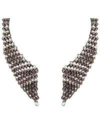 BCBGMAXAZRIA Smoke Stone Collar Necklace - Grijs