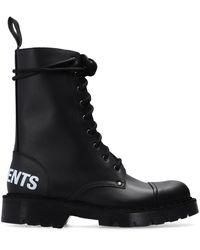 Vetements Boots With Logo - Zwart