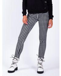 Colourful Rebel Zwart Jonie Check Pants Broek - Wit