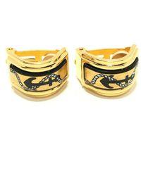 Hermès Tweedehands Oorbellen - Geel