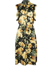 Lofty Manner Helena Flower Jurk - Geel