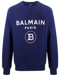 Balmain - Sweatshirt Met Logo Op De Raglanmouwen - Lyst