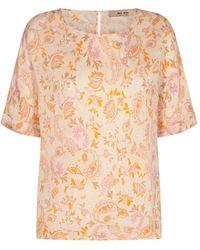 Mos Mosh Palma chintz blouse - Naranja