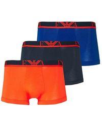 Emporio Armani Tripack Boxers - Oranje