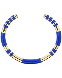 Aurelie Bidermann Positano resin and gold plated bangle bracelet - Bleu