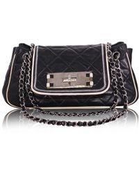 Chanel East West Mademoiselle Flap Shoulder Bag - Zwart