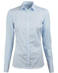 Stenströms Shirt S Poplin - Bleu