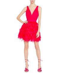 Alice + Olivia - Dress Rojo - Lyst
