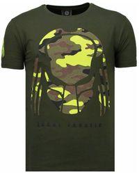 Local Fanatic Predator - Rhinestone T-shirt - Groen