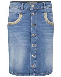Mos Mosh Vicky Wave Skirt 137430 - Blauw