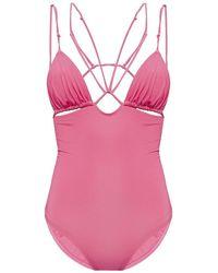 Jacquemus Pila One-piece Swimsuit - Roze