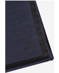 Brioni Silk Jacquard Pocket Square - Bleu