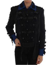 Dolce & Gabbana Trench Jacket - Zwart