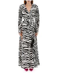 The Attico - Zebra Print Dress - Lyst