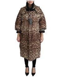 Dolce & Gabbana - Leopard Beneden Hooded Jas Jacket - Lyst