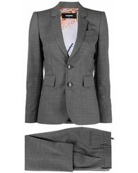 DSquared² Micro-pattern Two-piece Suit - Grijs