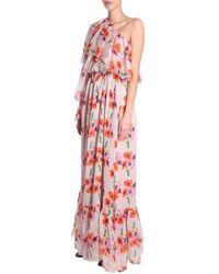 MSGM Long ONE Shoudler Dress Rosa
