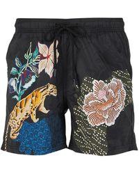 Etro Floral Swimsuit - Zwart