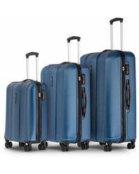 Conwood Monterey Navy Metallic Suitcase Set - Blauw